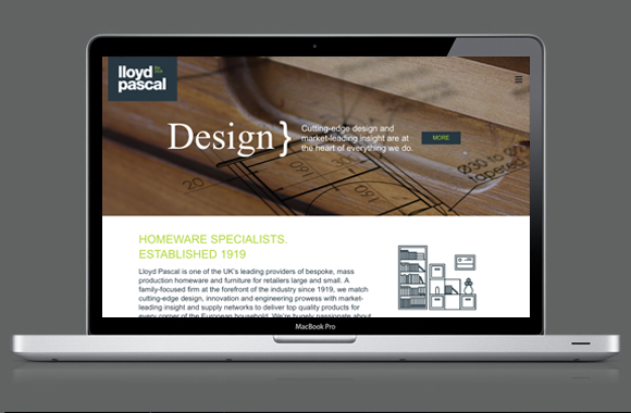 Lloyd Pascal Website - Design Page