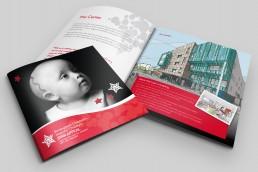 Square format booklet design
